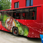 3D Bus Wrapping, Eco Solvent Printer Printing Sample!MT Digital Industry - Eco Solvent Printer, Solvent Printer, UV Printer, Digital Textile Printer Manufacturer & Supplier!