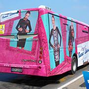 Bus Wrapping Advertising, Eco Solvent Printer Printing Sample!MT Digital Industry - Eco Solvent Printer, Solvent Printer, UV Printer, Digital Textile Printer Manufacturer & Supplier!