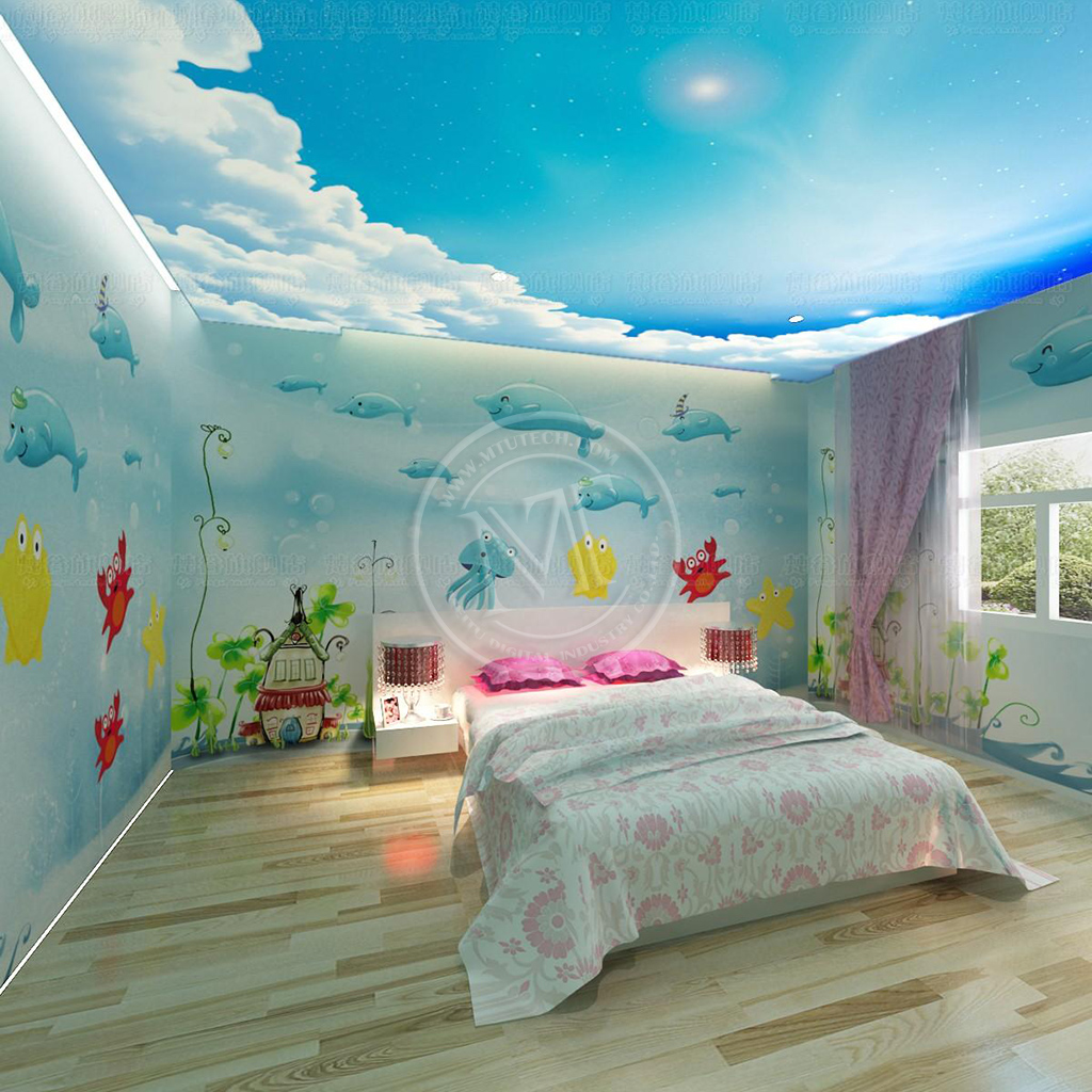 Soft Film Ceiling & Wall Paper Decoration, Roll To Roll UV Printer Printing Sample!MT Digital Industry - Eco Solvent Printer, Solvent Printer, UV Printer, Digital Textile Printer Manufacturer & Supplier!