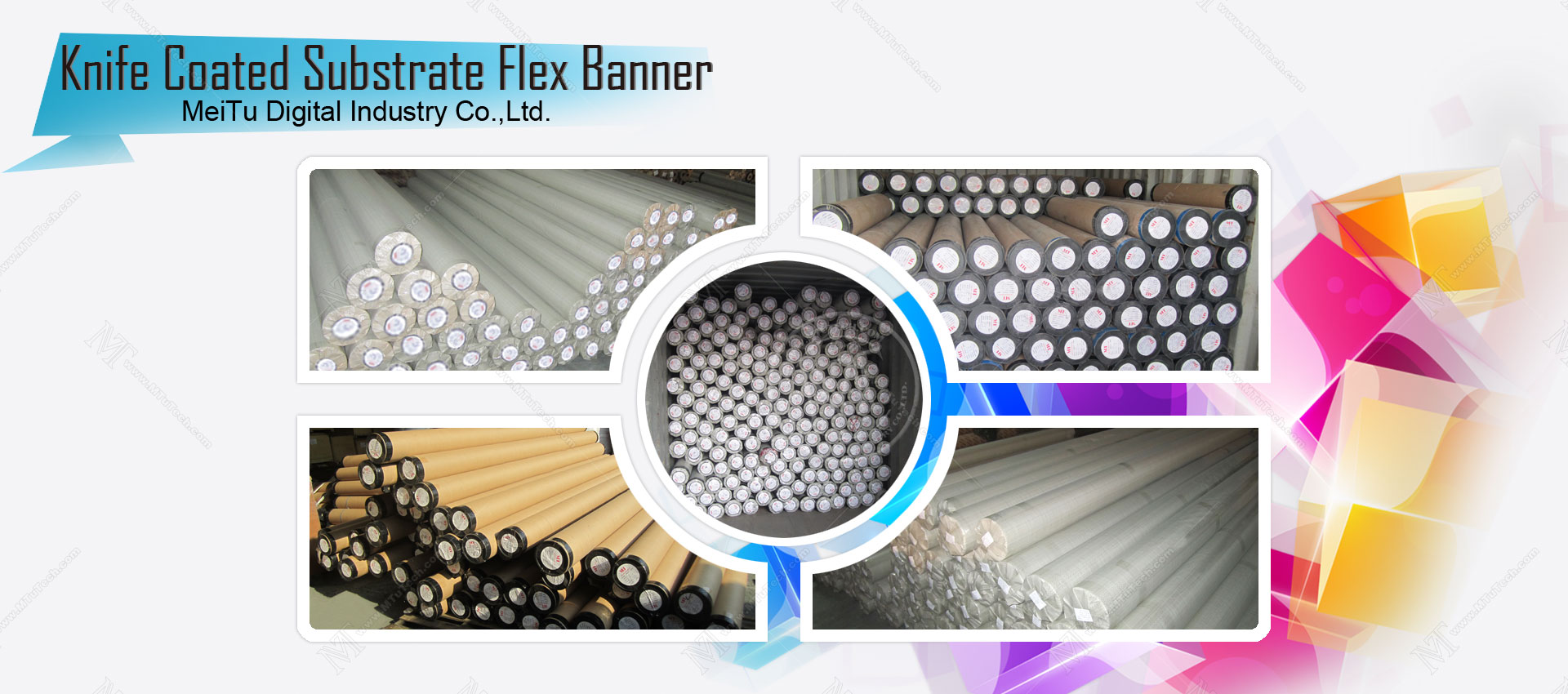 Knife Coated Substrate flex banner