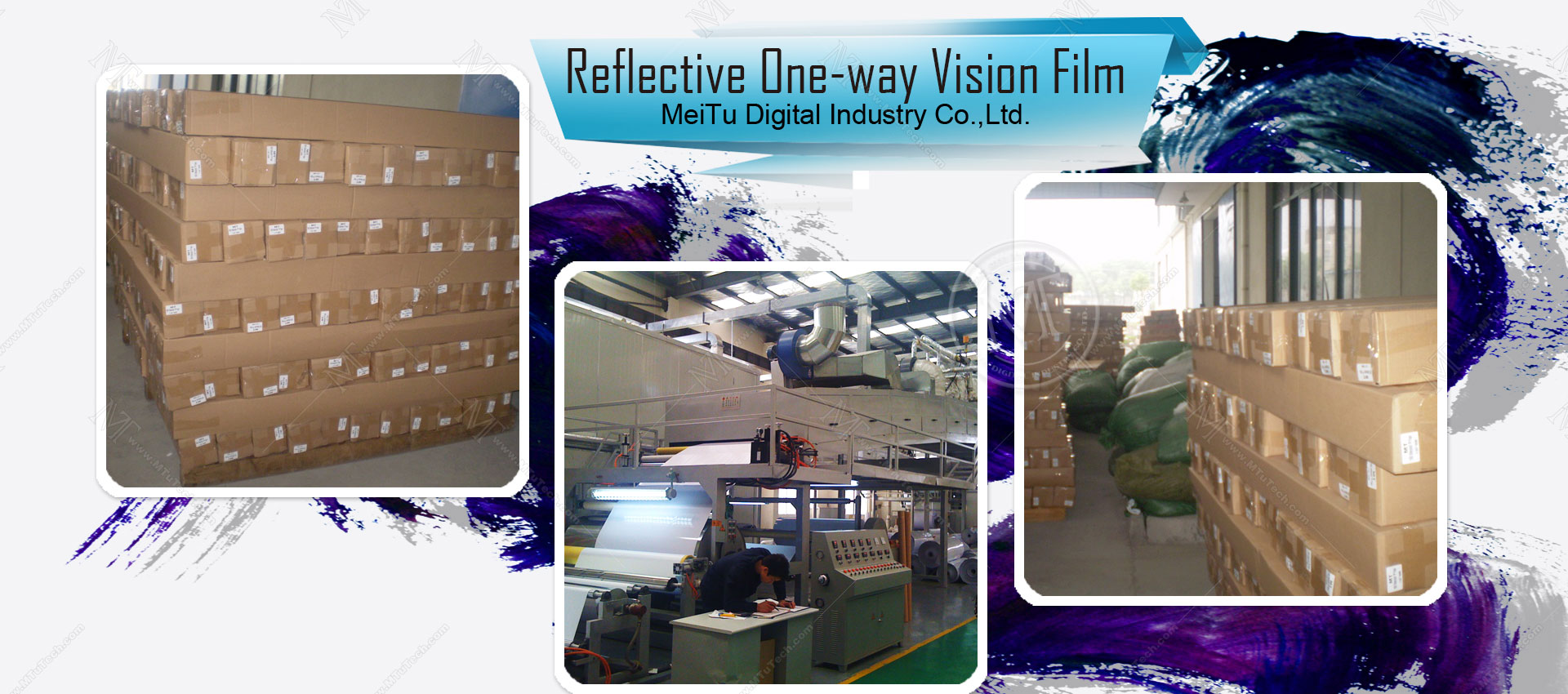 Reflective One-way Vision Film