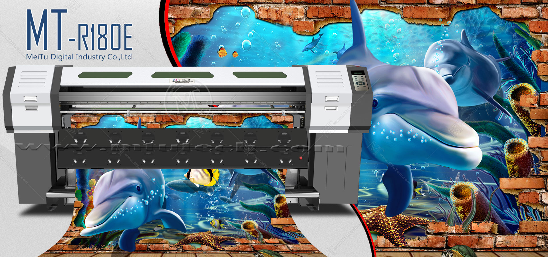 Hybrid Eco Solvent Printer MT-R180E (Roll to Roll & Flatbed)